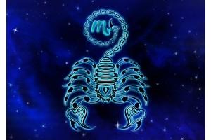 Scorpio Symbol in Galaxy Star Pattern