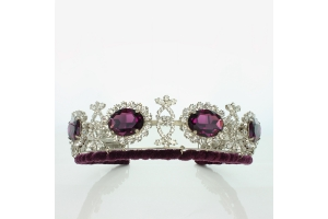 purple amethyst and diamond tiara
