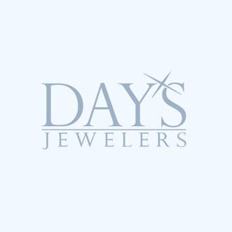 Round Aquamarine Ring in 14kt White Gold with Diamonds (1/20ct tw)