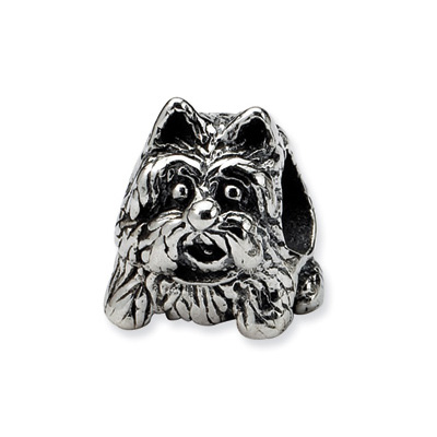Sterling Silver Reflections Yorkshire Terrier Bead