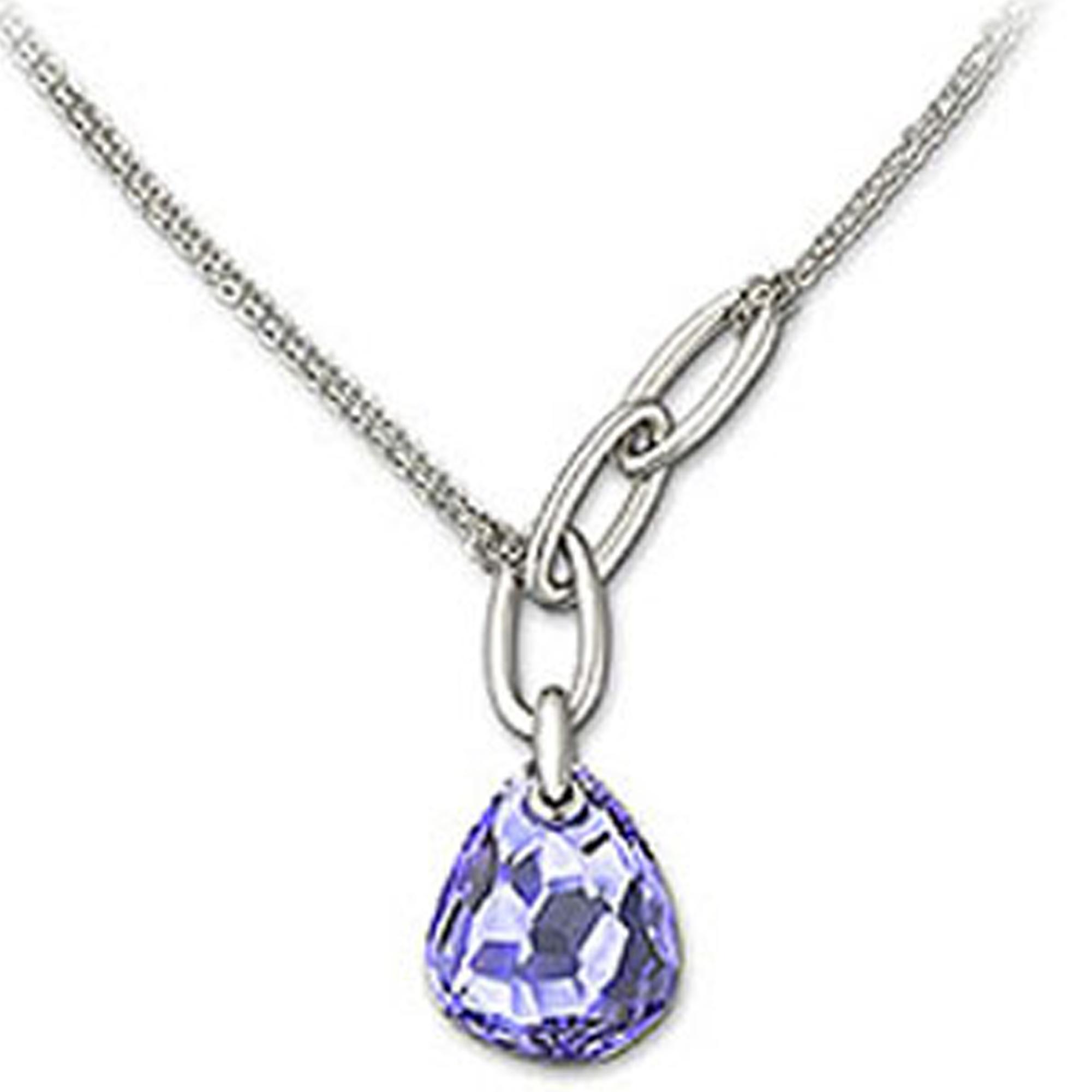 3dd7740b3f481 Swarovski Purple Tanzanite Crystal Parallele Necklace NGCNK0398