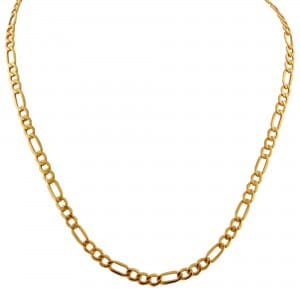 Figaro Chain in 14kt Yellow Gold $549