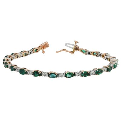 emerald bracelet with diamonds