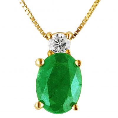 emerald necklace with diamond